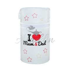 New Baby Termoobal Mini I love Mum and Dad biely 28790